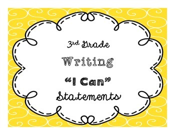 "3rd Grade ""I Can"" Writing CCSS Statement Posters *EDITABLE*"