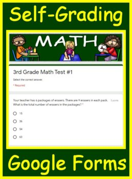 3rd Grade ILEARN Math Test Prep Practice Tests AND Games Bundle!