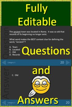 3rd Grade ITBS Test Prep English and Reading Vocabulary Review Game