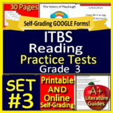 3rd Grade ITBS Test Prep ELA Practice Tests - Print AND Self-Grading Iowa Tests