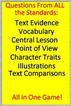 3rd Grade ITBS Test Prep Reading Literature and Narrative Skills Review Game