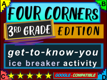 "3rd Grade Ice Breaker - ""FOUR CORNERS"" get-to-know-you game"