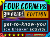"""3rd Grade Ice Breaker - """"FOUR CORNERS"""" get-to-know-you game"""