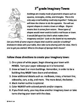 3rd Grade Art Sub Plan: Imaginary Towns