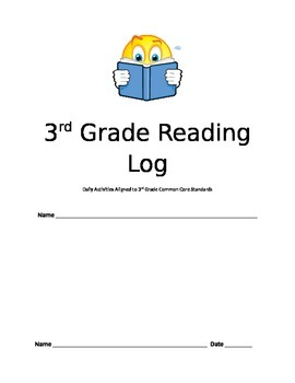 3rd Grade Independent Reading Log Aligned to Common Core Skills