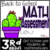 3rd Grade Math Assessment for Fall