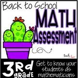 3rd Grade Math Assessment for Fall