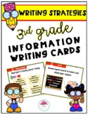 3rd Grade Information Writing Strategy Cards