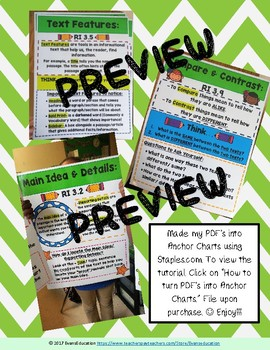 3rd Grade Informational Skill Poster BUNDLE