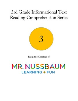 3rd Grade Informational Text Reading Comprehension Series