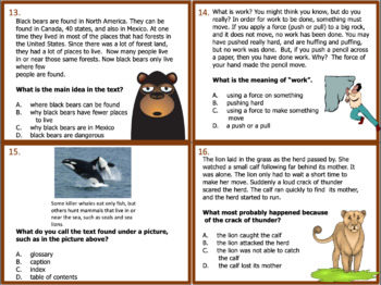 3rd Grade Informational Text Task Cards