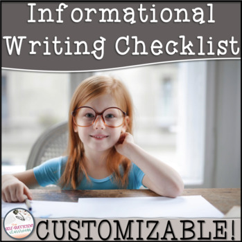 3rd Grade Informational Writing Checklist~ EDITABLE