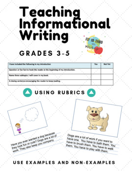 3rd Grade Informational Writing Pack