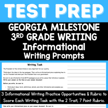 3rd Grade Informational Writing Texts and Prompts for Georgia Milestone