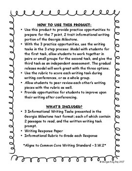 original-3054372-2  Rd Grade Informational Writing Examples on practice pages, prompt about maps, printouts for, common core, lesson plans, conclusion for essay, art prompt,