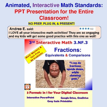 3rd Grade FRACTIONS BUNDLE Interactive – All 3.NF.1, 3.NF.2 & 3.NF.3 Standards