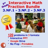 3rd Grade FRACTIONS BUNDLE Interactive – All 3.NF.1, 3.NF.