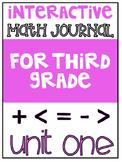 3rd Grade Interactive Math Journal    Go Math Chapter 1 (A