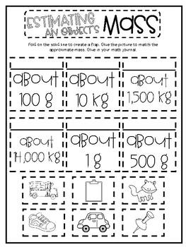 3rd Grade Interactive Math Journal  | Go Math Chapter 10 (Length, Mass, Volume)