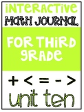 3rd Grade Interactive Math Journal  | Go Math Chapter 10 (