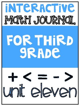 3rd Grade Interactive Math Journal  | Go Math Chapter 11 (Perimeter and Area)