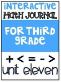 3rd Grade Interactive Math Journal  | Go Math Chapter 11 (