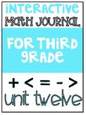 3rd Grade Interactive Math Journal    Go Math Chapter 12 (