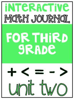 3rd Grade Interactive Math Journal  | Go Math Chapter 2 (G