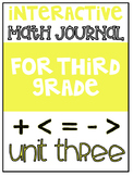 3rd Grade Interactive Math Journal  | Go Math Chapter 3 (Multiplication)