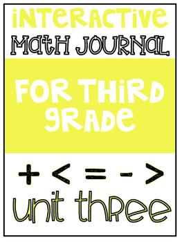3rd Grade Interactive Math Journal  | Go Math Chapter 3 (Multiplication)