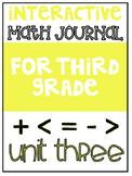 3rd Grade Interactive Math Journal    Go Math Chapter 3 (M
