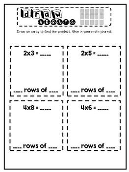 3rd Grade Interactive Math Journal  | Go Math Chapter 4 (Multiplication Facts)