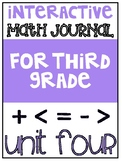 3rd Grade Interactive Math Journal  | Go Math Chapter 4 (Multiplication Facts)
