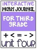 3rd Grade Interactive Math Journal    Go Math Chapter 4 (M