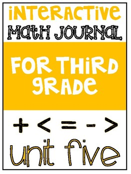 3rd Grade Interactive Math Journal  | Go Math Chapter 5 (Multiplication)