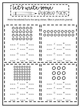 3rd Grade Interactive Math Journal  | Go Math Chapter 6 (Division)