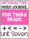 3rd Grade Interactive Math Journal  | Go Math Chapter 7 (Division)