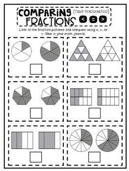 3rd Grade Interactive Math Journal    Go Math Chapter 9 (Comparing Fractions)