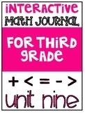 3rd Grade Interactive Math Journal    Go Math Chapter 9 (C