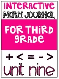 3rd Grade Interactive Math Journal  | Go Math Chapter 9 (C