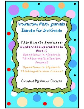 Interactive Math Journals 3rd Grade NBT and OA Bundle