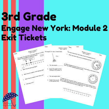 Engage New York Math Alternative Exit Ticket Worksheets Grade 3, Module 2