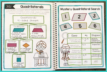 Interactive Math Notebook 3rd Grade Measurement & Data and Geometry