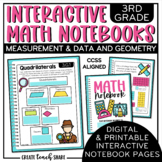 Math Interactive Notebook 3rd Grade Measurement & Data and Geometry