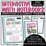 Interactive Notebook - 3rd Grade Math - Operations & Algeb