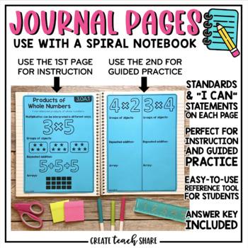 Interactive Math Notebook 3rd Grade Operations & Algebraic Thinking
