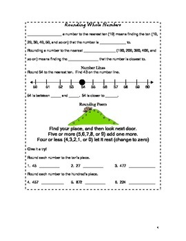 3rd Grade Interactive Math Notebook Part 1 (Common Core Aligned)