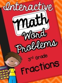 3rd Grade Interactive Math Notebook-Word Problems {FRACTIONS}