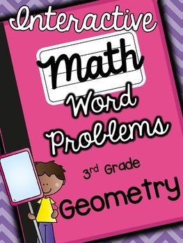 3rd Grade Interactive Math Notebook-Word Problems {GEOMETRY}