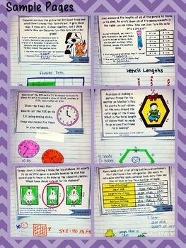 3rd Grade Interactive Math Notebook-Word Problems {MEASUREMENT & DATA}